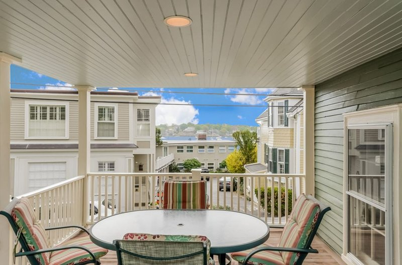 Harbor views in the heart of the Historic District from your spacious private deck.