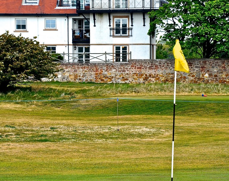 View of the Apartment (ground floor) from the 17th Green of Gullane No 3.