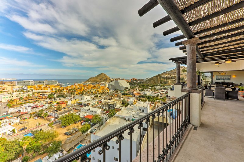 Enjoy fantastic views of Cabo from the terrace at this vacation rental villa!