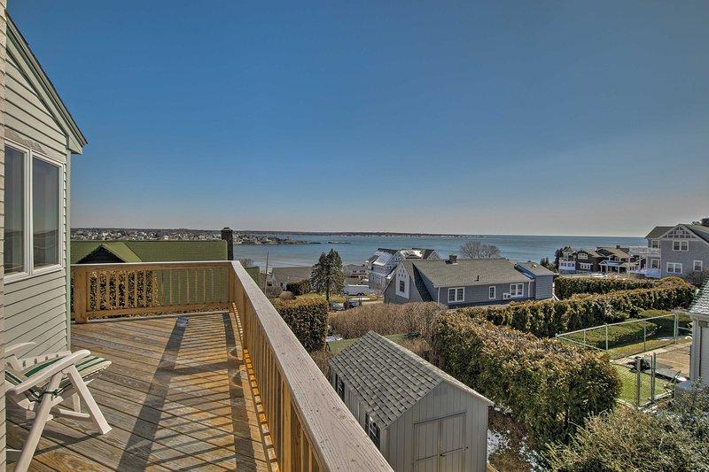Enjoy scenic views of Narragansett at this 4-bed, 2.5-bath vacation rental home!