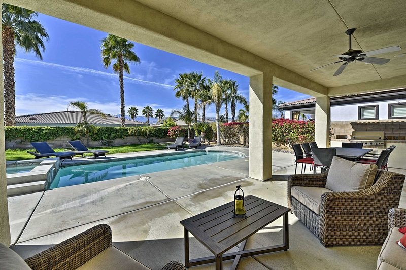 Retreat to the desert for some much needed relaxation in this luxurious vacation rental!