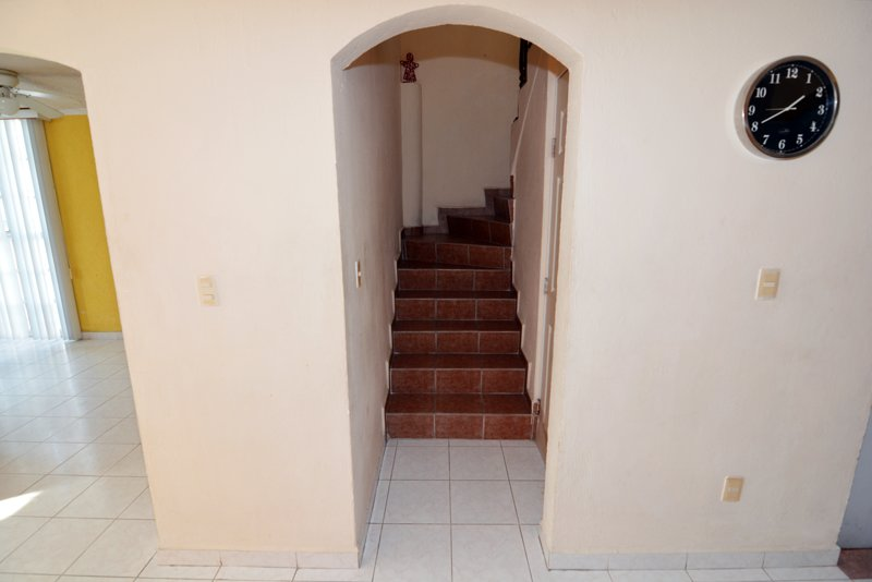 Stairs to access rooms