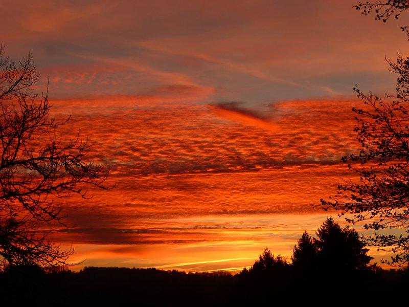 tramonti dalla tenda glamping