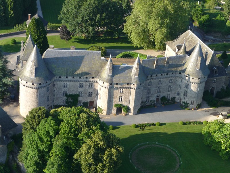 Pompadour's impressive chateau in the centre of this small town