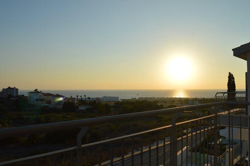 Románticas puestas de sol cada día