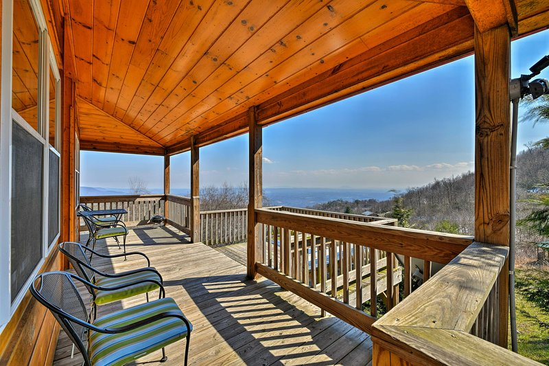 Escape to Fancy Gap, Virginia and stay at this cozy vacation rental cabin.