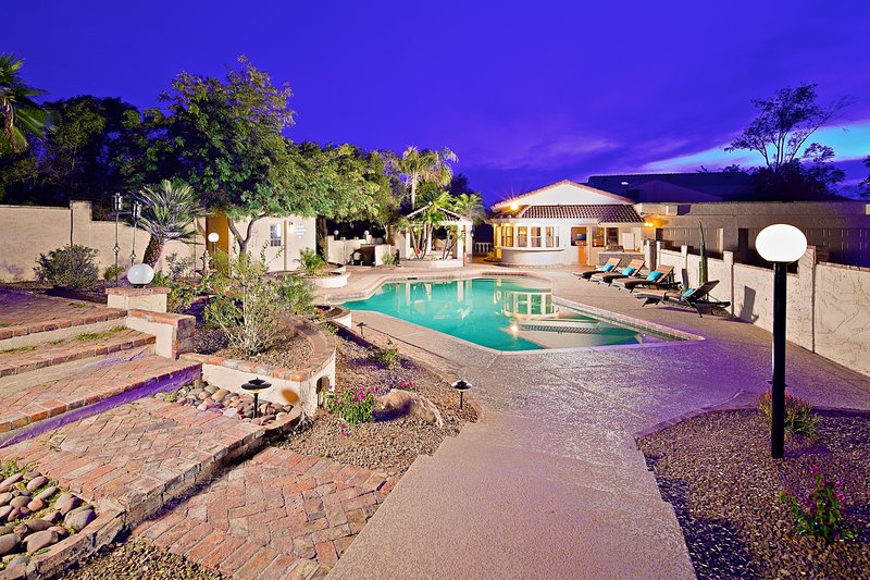 Relax and enjoy your private oasis with heated pool, fun sports court, and more.