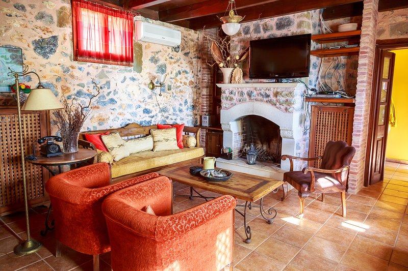 Living Room Fireplace corner