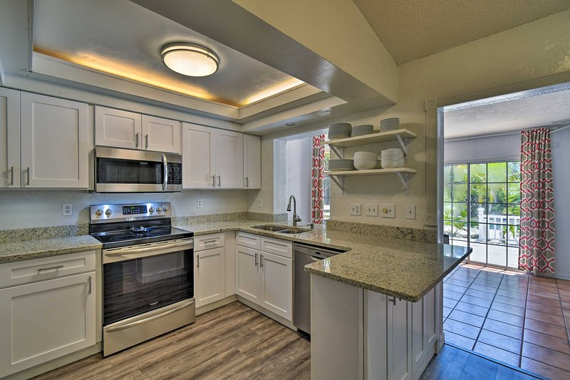 The fully equipped kitchen is the perfect place to whip up your favorite recipes
