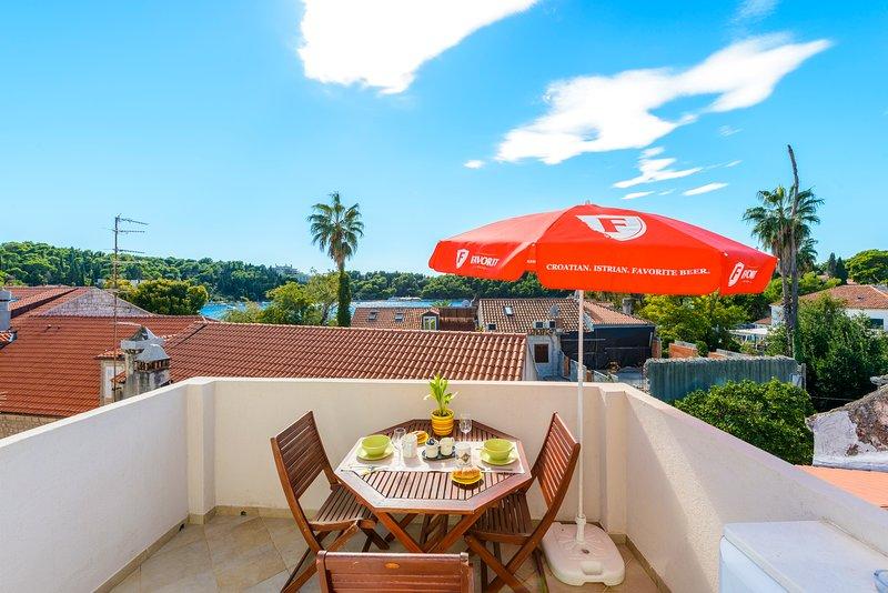 terraza privada adecuado para comer al aire libre