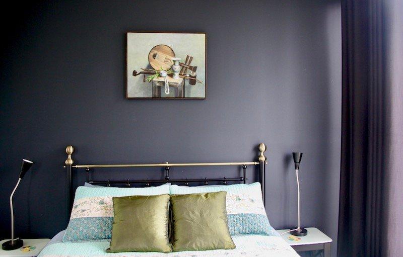 letto queen size w / coperta elettrica