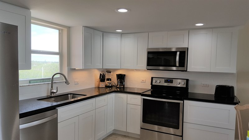 All new kitchen and appliances, and granite countertops