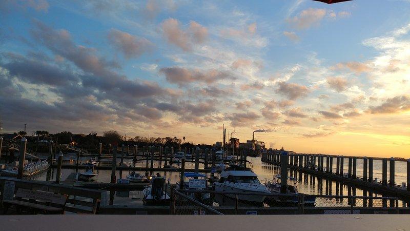 Tramonto a Fernandina Harbor Marina a fine Center St.