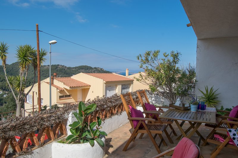 Terrace with a little sea view - SA PUNTA COSTA BRAVA