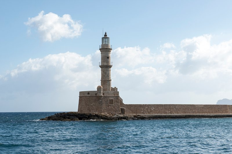 the lighthouse of Chania..