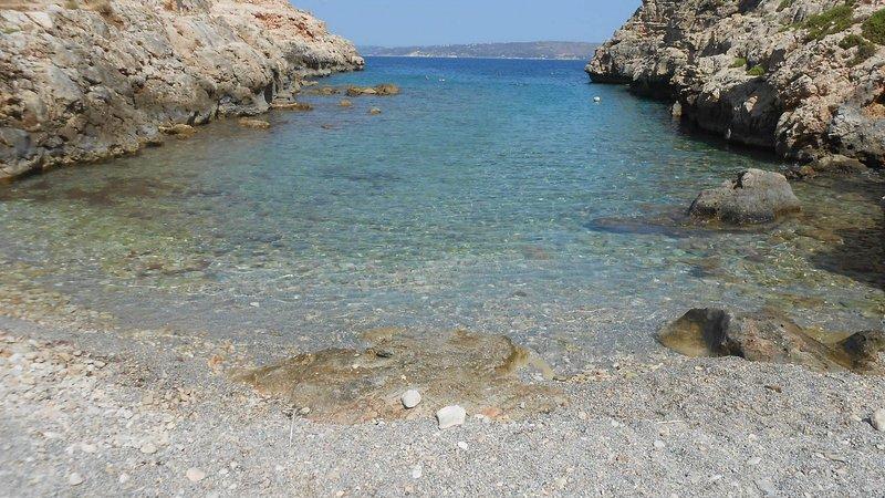 Crystal Clear waters in Koutalas beach