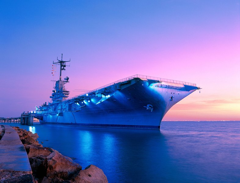 Visit the popular USS Lexington Museum on the Bay Aircraft Carrier within walking distance!