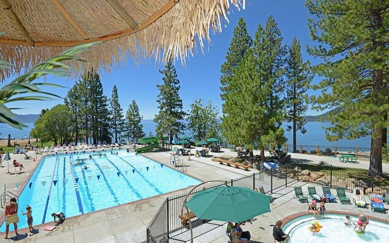 O centro de recreação inclui uma piscina