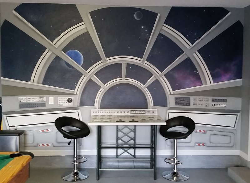 Star Wars themed games room
