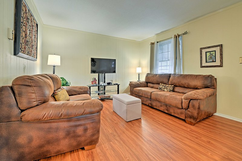 Located near Duke, this vacation rental home is ideal for your next Durham trip!