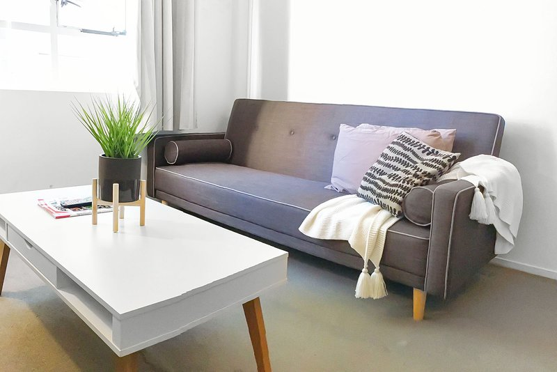 A 3-seater sofa bed that folds out to a double.