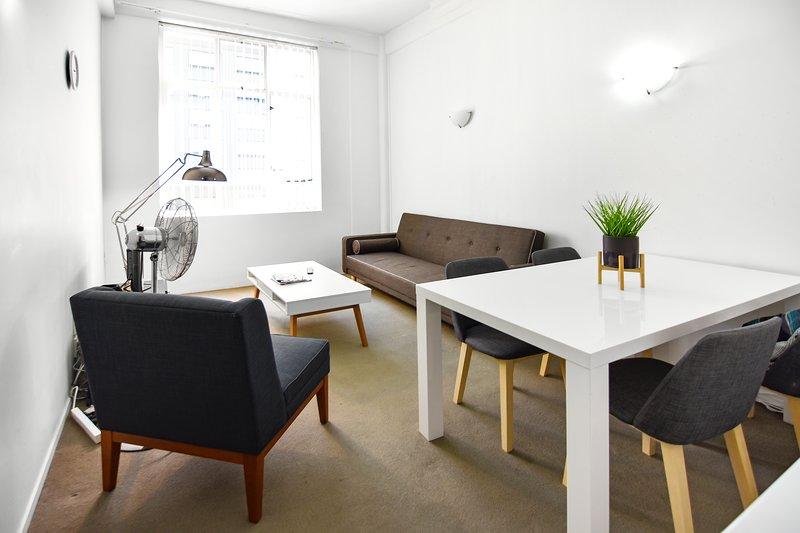 A spacious & tastefully decorated interior.