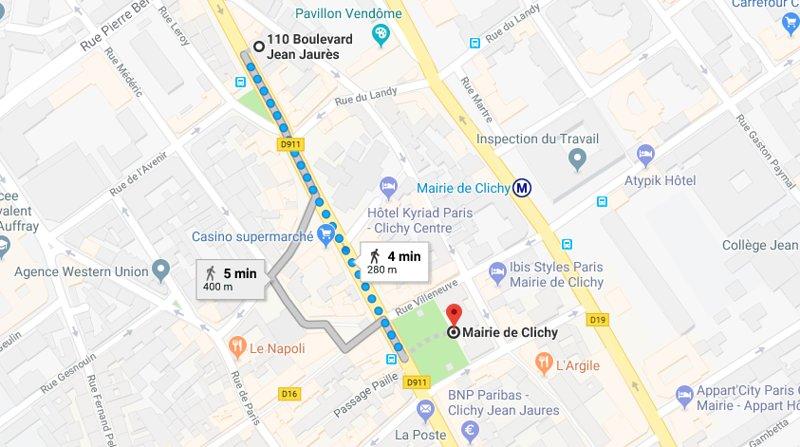 Nice appartement near subway, alquiler vacacional en Clichy