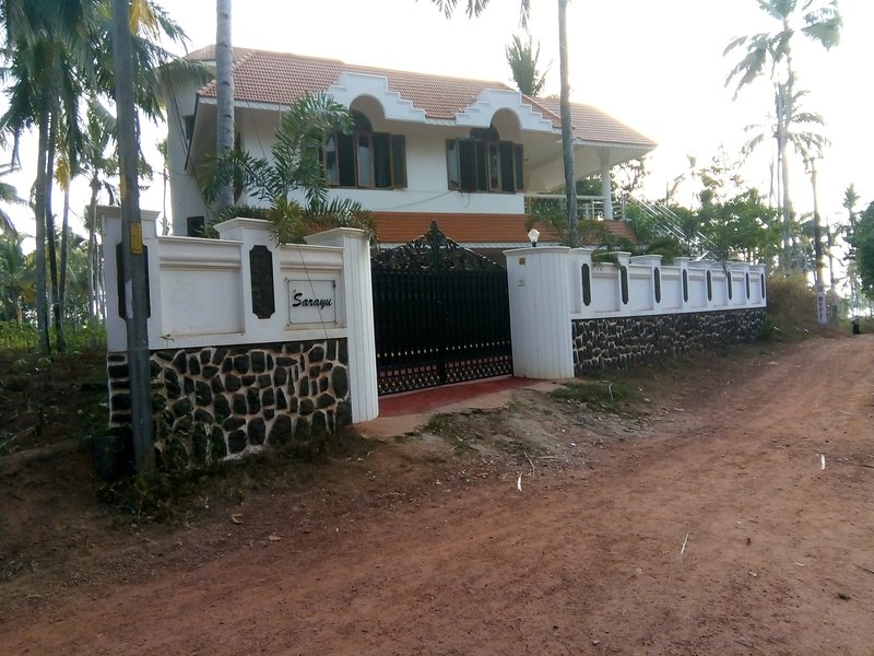 Sarayu villa,front view, great location, very quite.