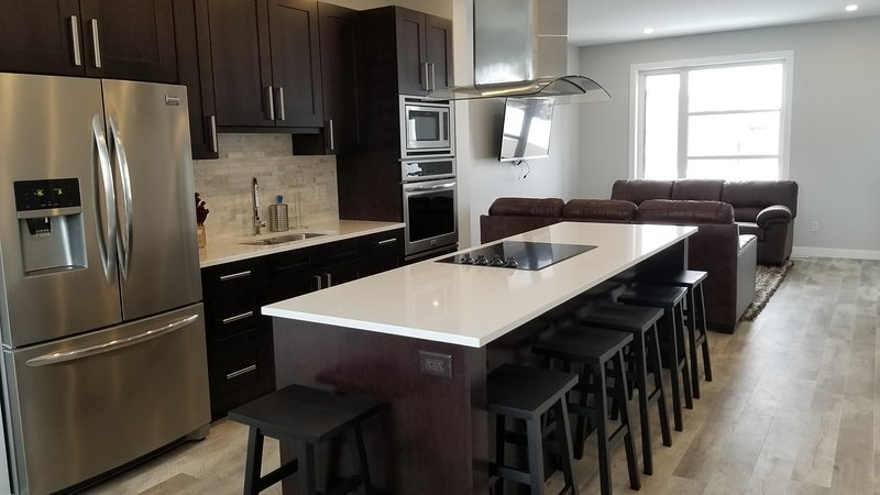 Chef's Kitchen with island seating for 6