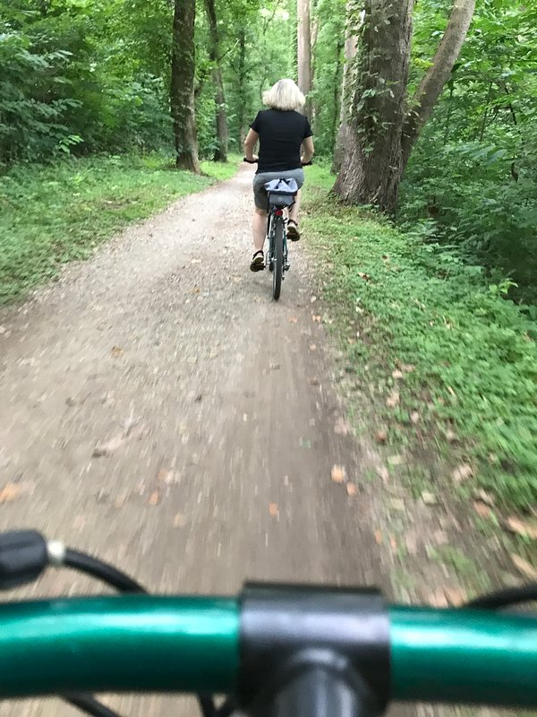 Biking on the C&O tow path on the MD side of the River