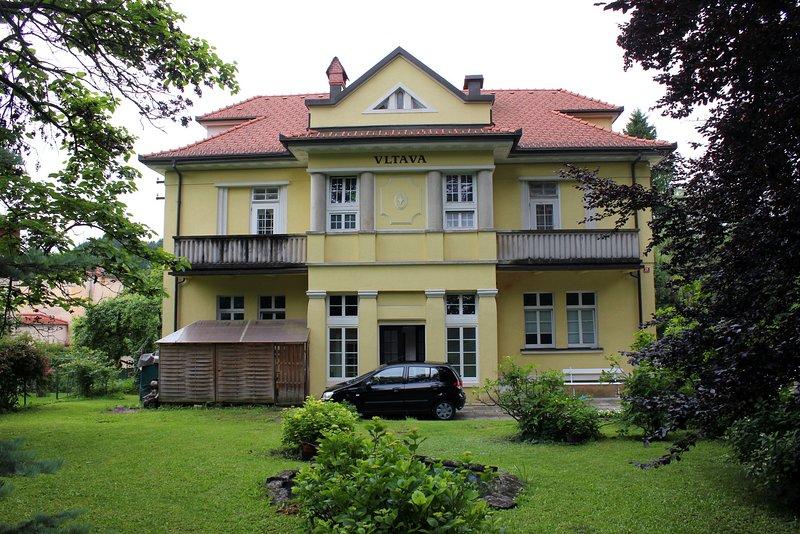 Vila Vltava exterior,  studio is on the second floor