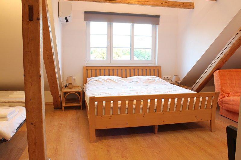 Studio loft sleeping area