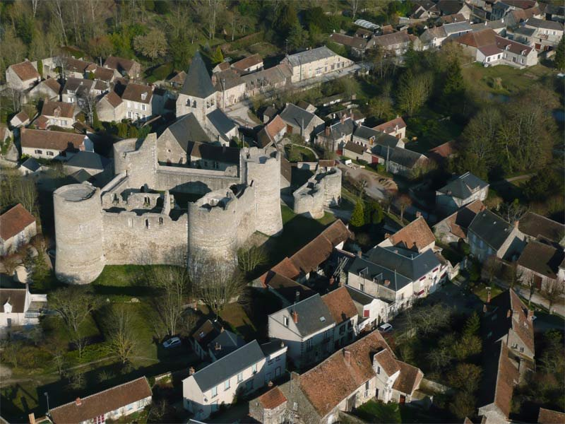 sky Fortress of Yèvre le Châtel, one of the most beautiful villages in France