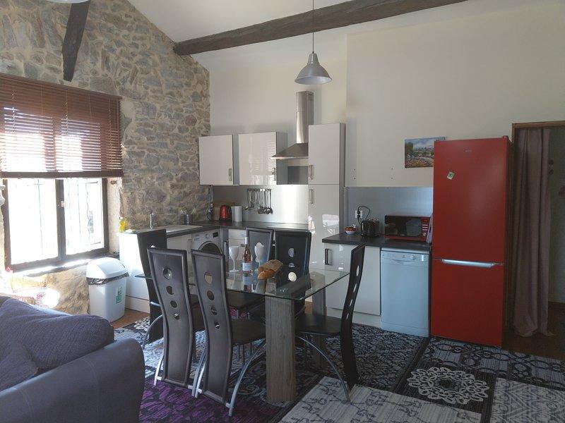 L'Appartement Deluxe, WIFI, uktv, Bar, Village location, Spa pool, location de vacances à Siran