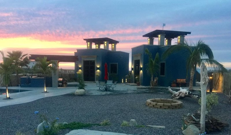 Baja sunsets are the perfect backdrop to illuminate these brand new casitas!