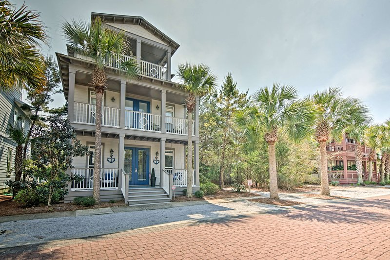 Escape to the coast at this Inlet Beach vacation rental home that sleeps 10.
