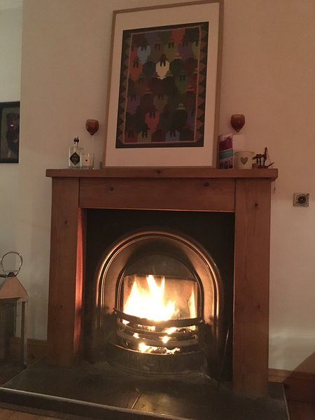 acogedora chimenea