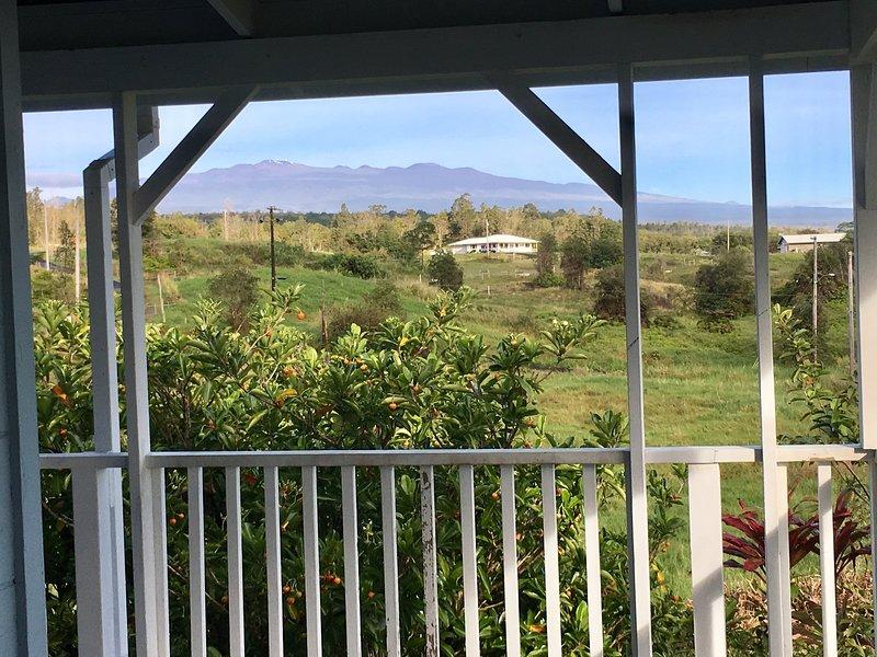 Mit Blick auf Mauna Kea von der Veranda!