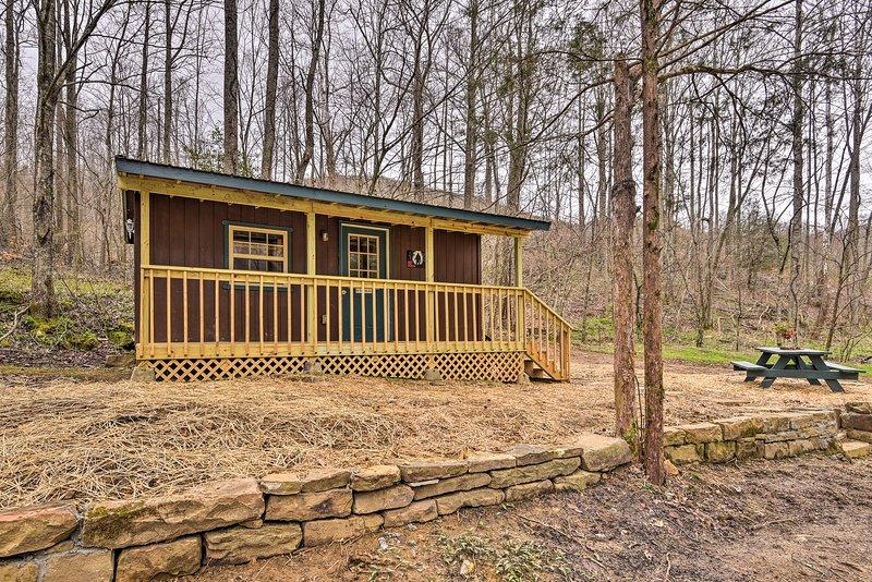 Godetevi la pace e la tranquillità di Briceville in questa cabina casa vacanze!