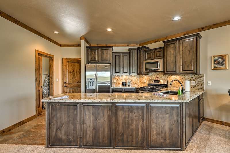 An abundance of natural light fills this incredible octagonal home.