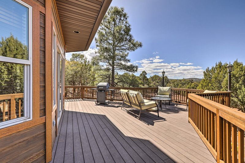 Take in the crisp alpine air from the spacious wraparound deck.