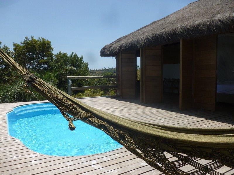 mét prive zwembad...zalig rusten in de hangmat