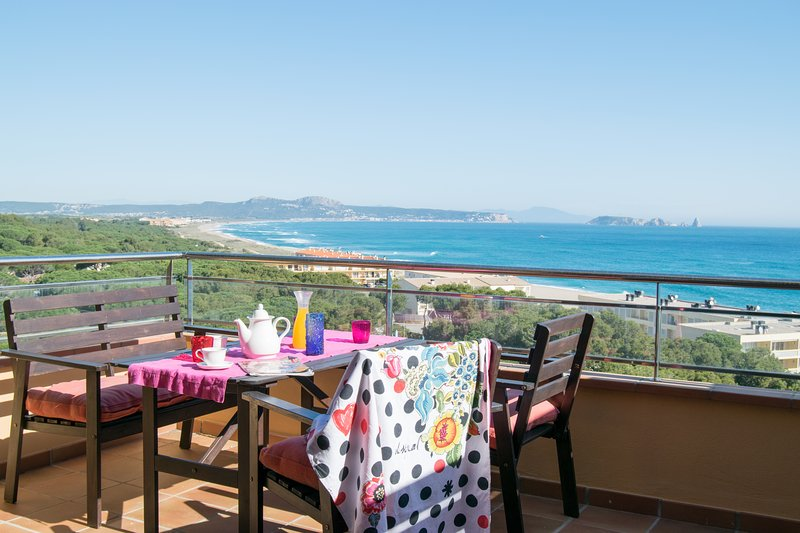 terrace with spectacular is views- SA PUNTA COSTA BRAVA