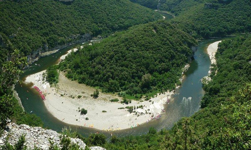 Superb descent of the Ardèche
