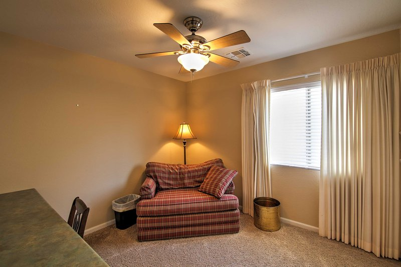 The home offers wireless internet access so you can stay on top of things.