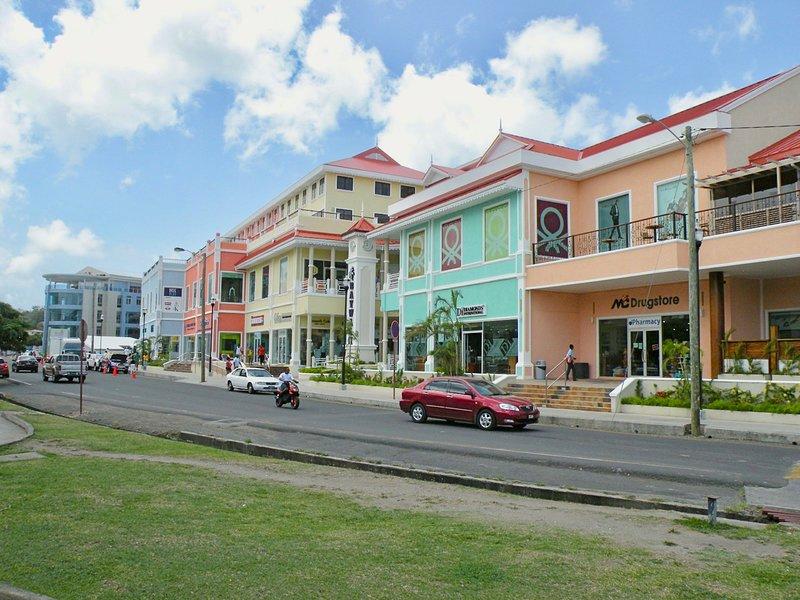 Baywalk shopping mall, 2 mins walk away.