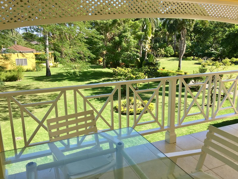 Garden from balcony