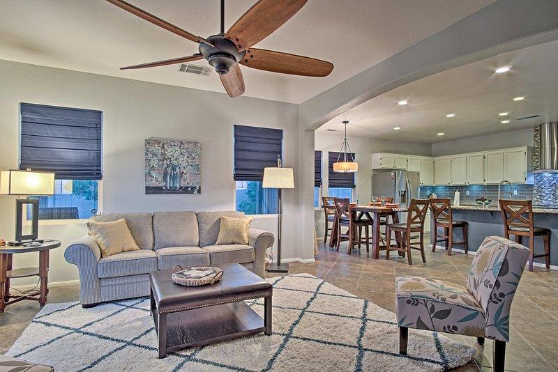 Descontraia-se neste 2 quartos, 3 casa de banho casa de férias em Desert Hot Springs.