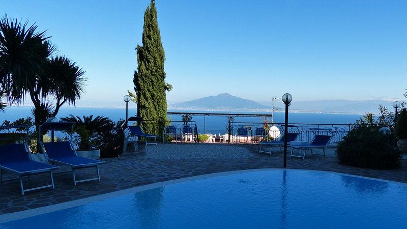 Villa Bianca (02) Piscina con vista Vesuvio