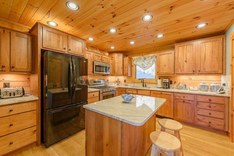 Küche mit Insel, Granit Arbeitsplatten